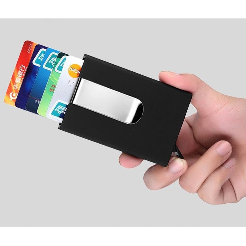 RFID Blocking Automatic Pop Up Wallet
