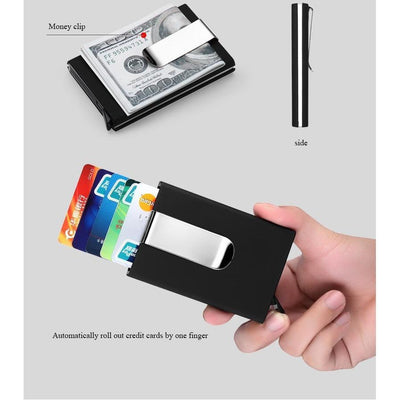 RFID Blocking Automatic Pop Up Wallet - Toynana.com