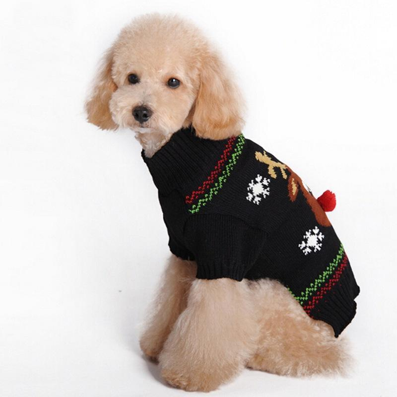 Reindeer Knitted Dog Christmas Suit