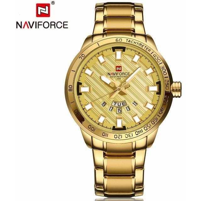 NAVIFORCE®™ LUXURY Golden Watch LTD EDITION -50% OFF- 24 HOURS ONLY!