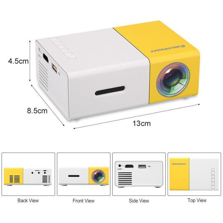 Portable Mini Projector Full HD