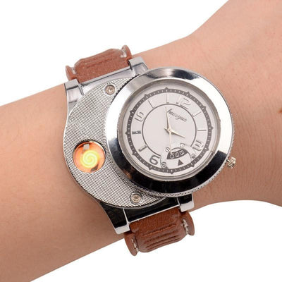 SmokeHour Lighter Windproof USB Watch - Toynana.com