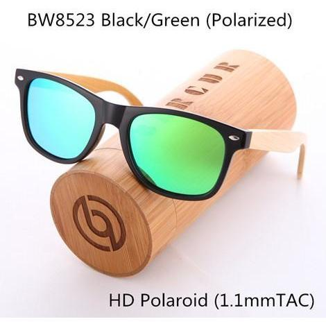 Hip Polarized Wooden Sunglasses