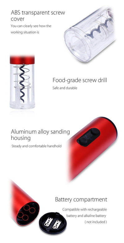 Aluminum Alloy Electric Wine Opener - Toynana.com