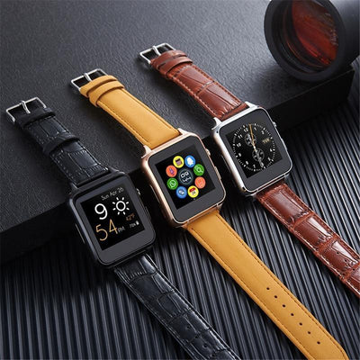 ***Special Promotion *** X77 Premium Leather Android iOS Smartwatch Phone - Toynana.com