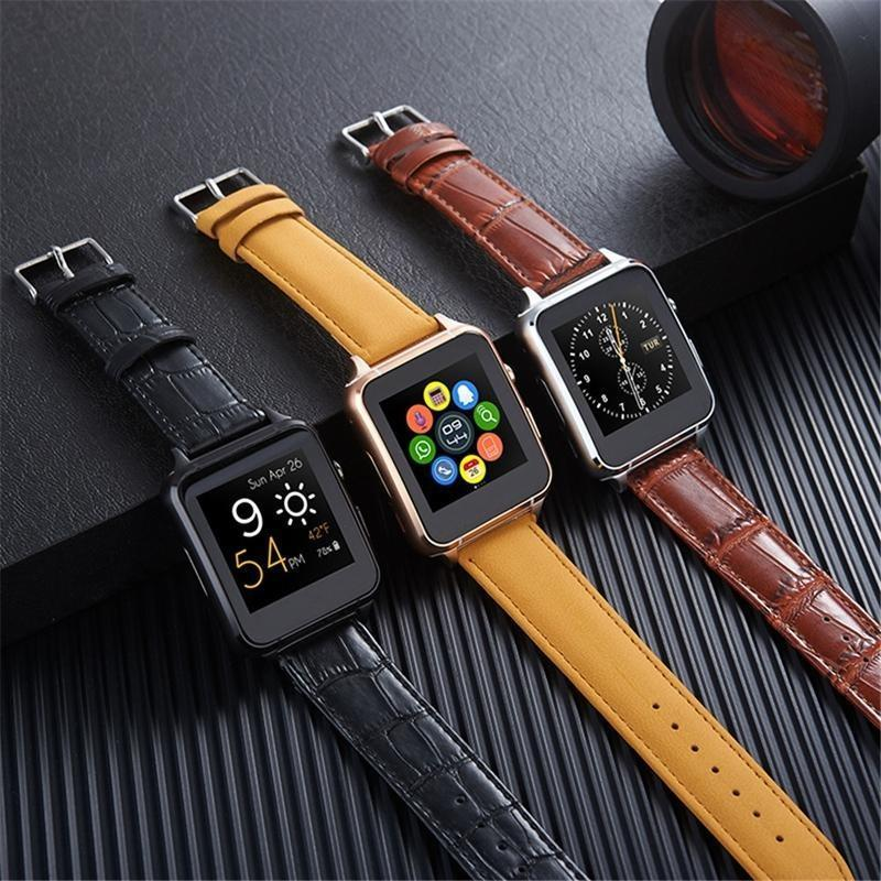 ***Special Promotion *** X77 Premium Leather Android iOS Smartwatch Phone