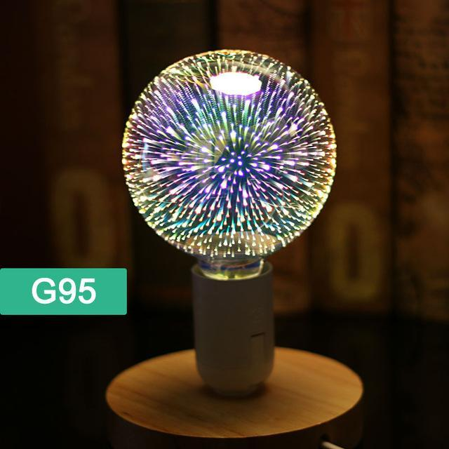 3D Fireworks Led Bulb Light
