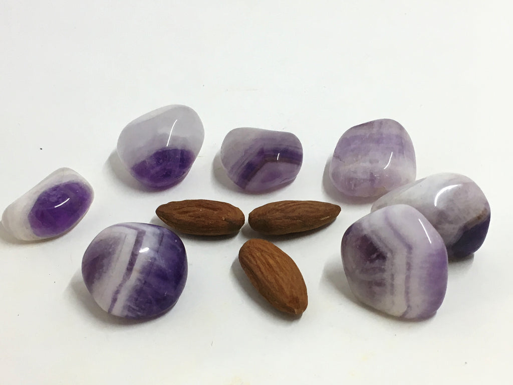 Amethyst Chevron - Tumbled Stone (Small)