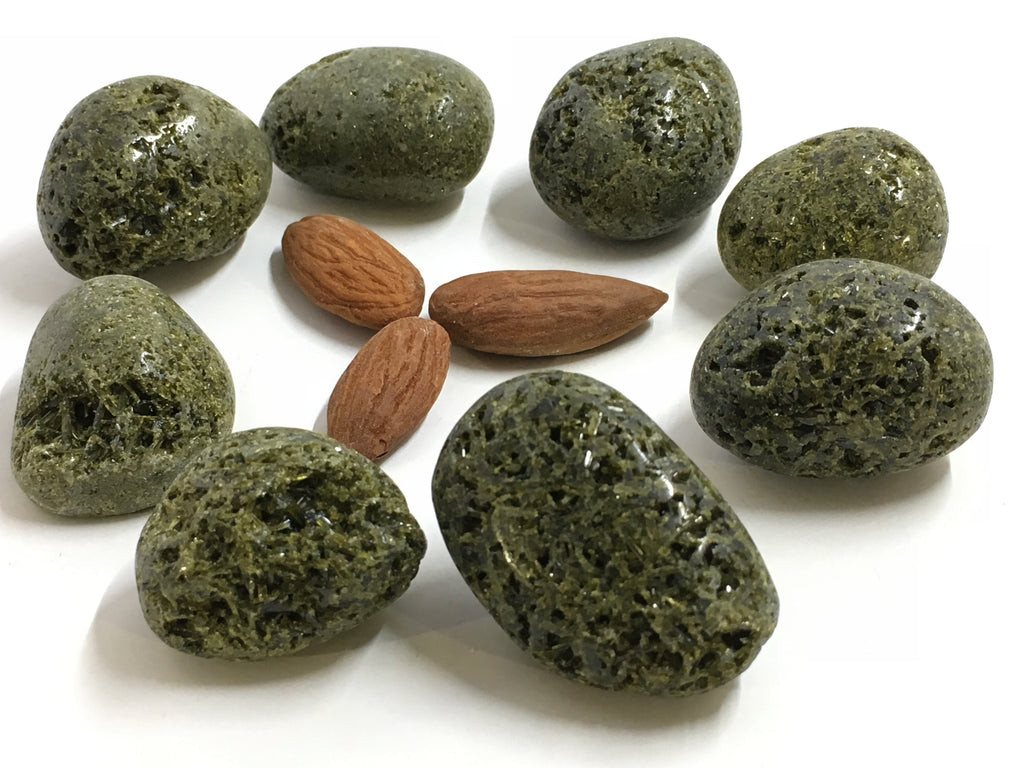 Epidote Green: Tumbled (11 pc/bag)