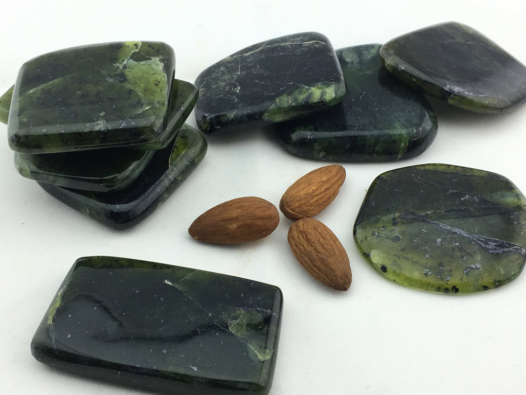 Kyanite Green: Palm Flat Rectangle Medium