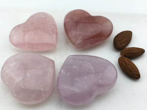 "Rose Quartz: Heart  (2 "")"