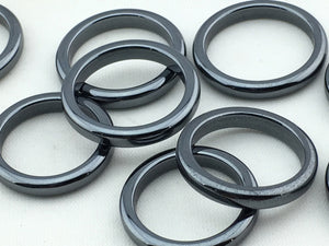 Hematite: Rings 2mm   (200pc/bag)