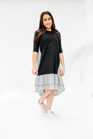Miki Dress - Black & Gray