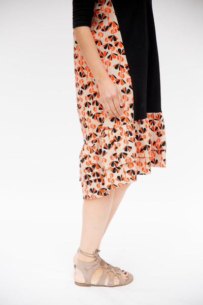 The Miki Dress - Orange & Black