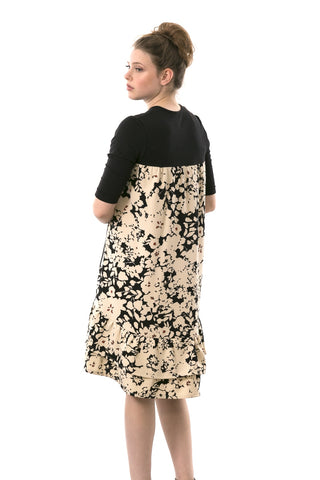 Miki Dress - Black & Cream