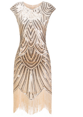 Vintage 1920s Flapper Great Gatsby Dress