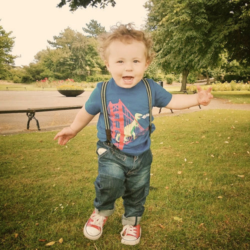 Kids' Royal Blue SF Dinosaur Tee