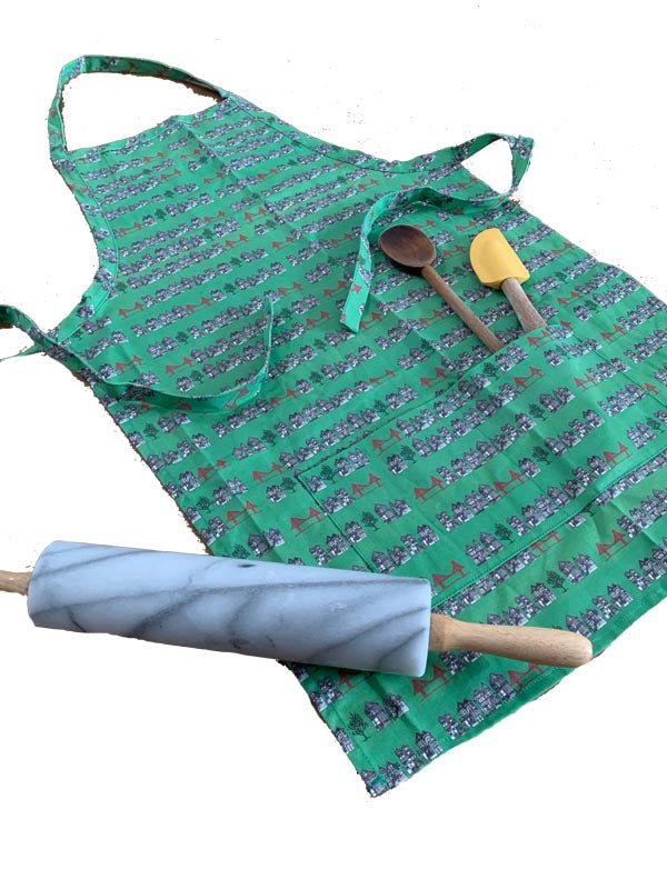 Victorian Bridges Cotton Apron