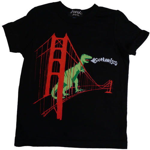 Kids' Black SF Dinosaur Tee