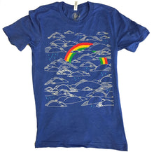 Unisex Heather Blue Rainbow Tee