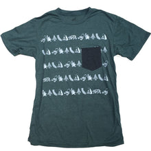 Unisex California Classic Forest Green Pocket Tee