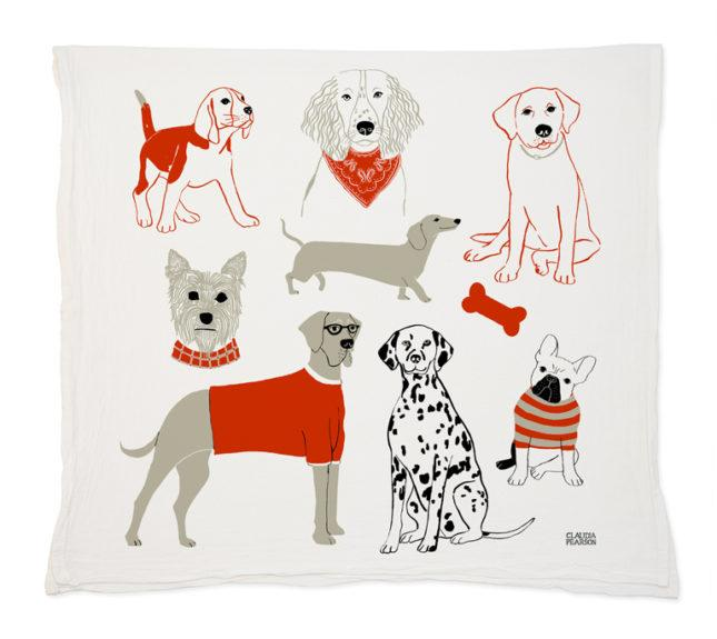 Claudia Pearson Dog Tea Towels