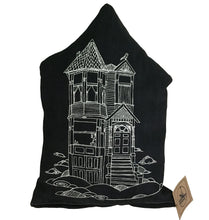Denim Victorian House pillows