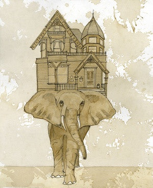 Limited Edition Elephant House Signed Print
