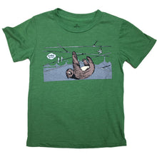 Kids Green Sloth In SF Tee