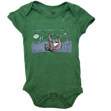Infant Green Sloths In SF Bodysuit Onesie