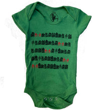 Infant Kelly Green Victorian Bridges Bodysuit Onesie