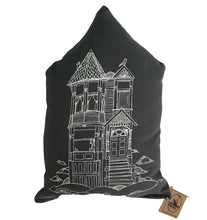 Slate Grey Victorian House pillows