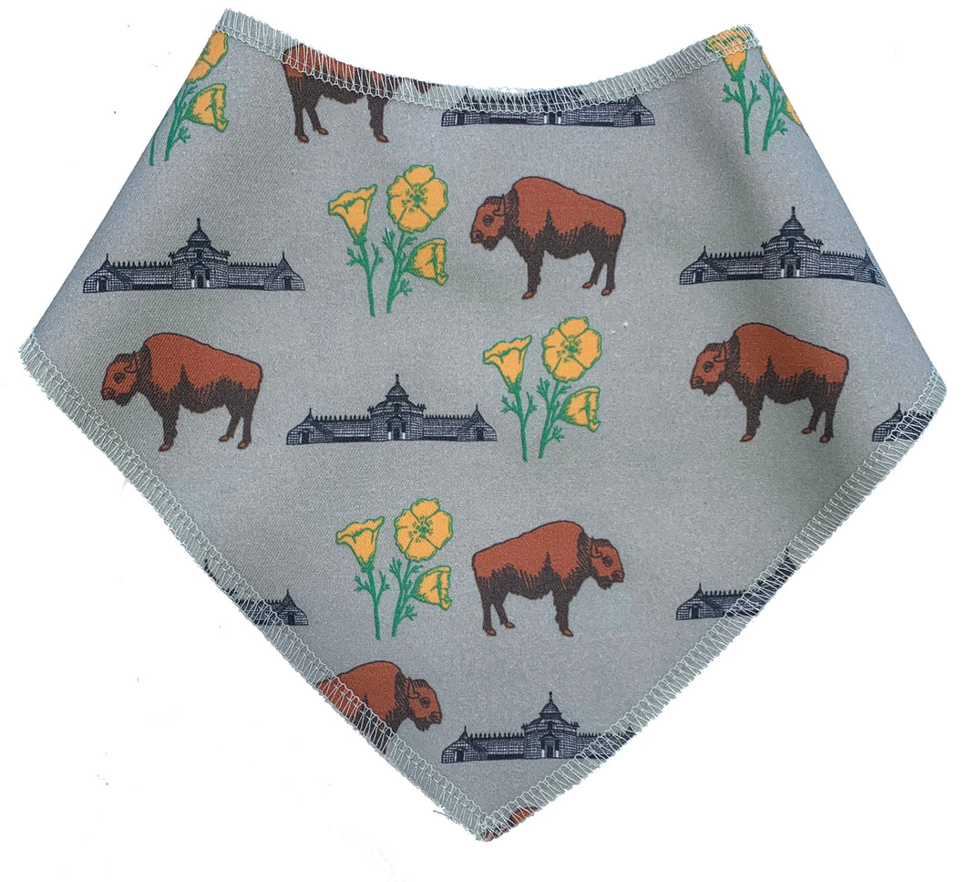 Buffalo Poppies Bib Scarf