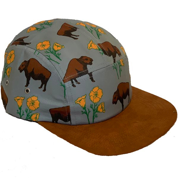 Buffalo Poppy Adjustable Leather Strap Hat