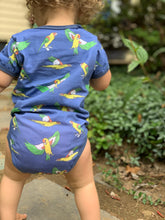 Flying Parrot Navy Cotton Onesie
