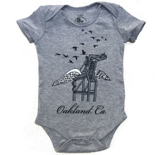 Infant Heather Grey Oakland Crane Bodysuit