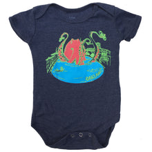 Infant Heather Navy Octo on Lake Merritt Bodysuit Onesie