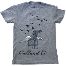 Kids' Heather Grey Oakland Crane Tee
