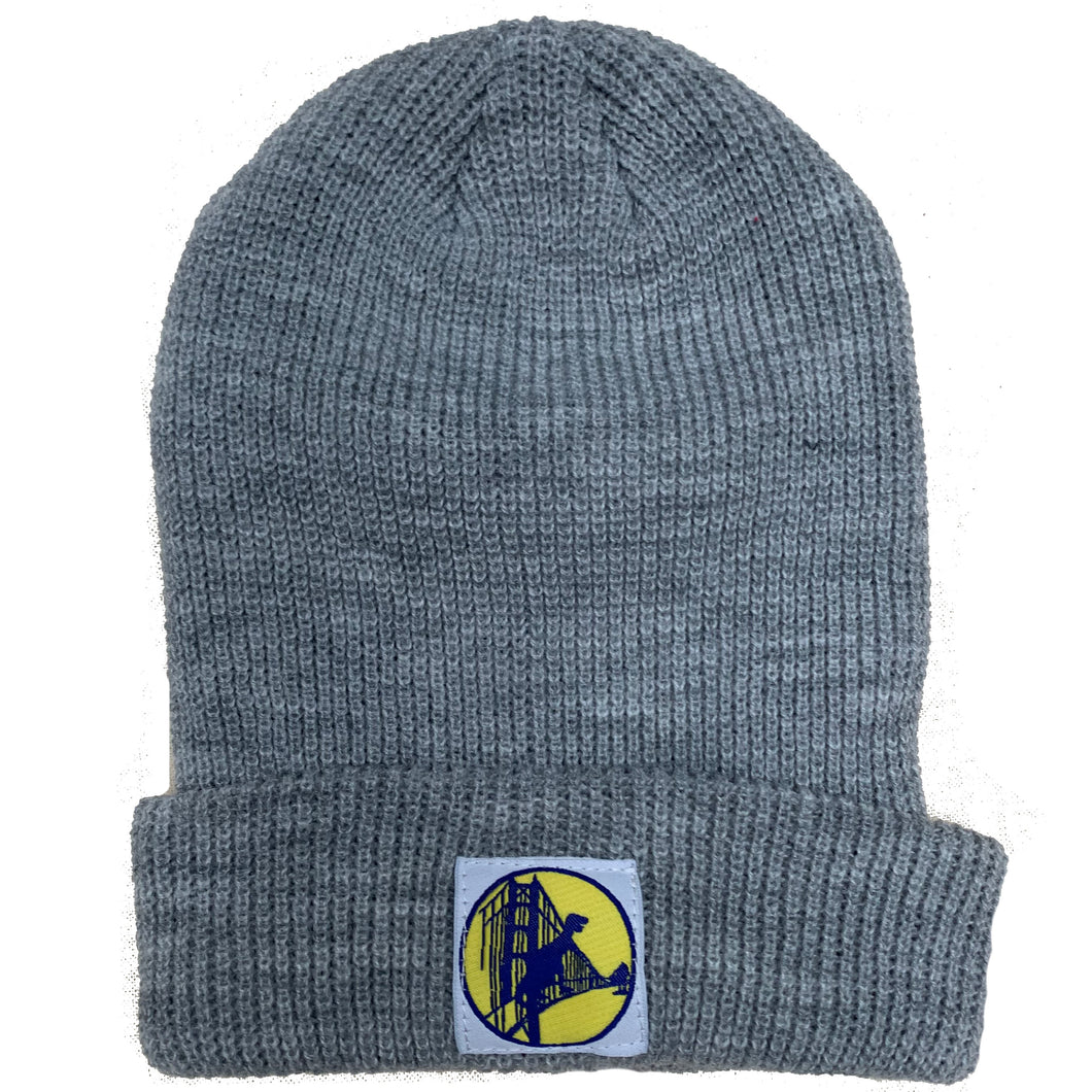 Light Grey Warriors Dino Beanie