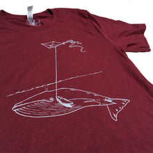 Unisex Tri-Maroon Whale with Kite Tee