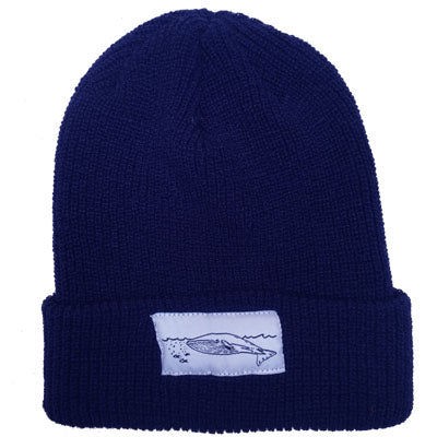 Navy Whale Patch Beanie