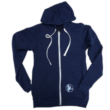 Unisex Navy Whale with Kite Ziphoody