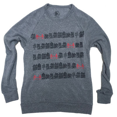 Unisex Victorian Bridges Crew Sweater