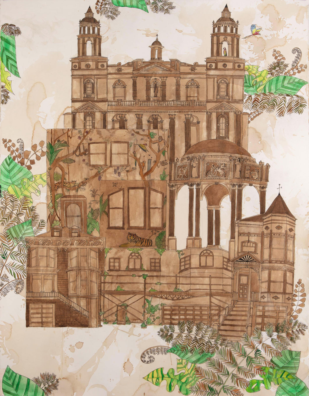 Jungle Victorian ORIGINAL Drawing