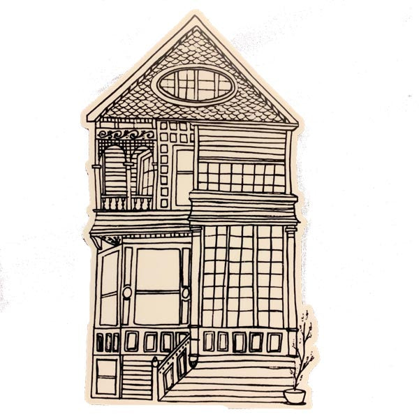 Victorian House number2 Sticker