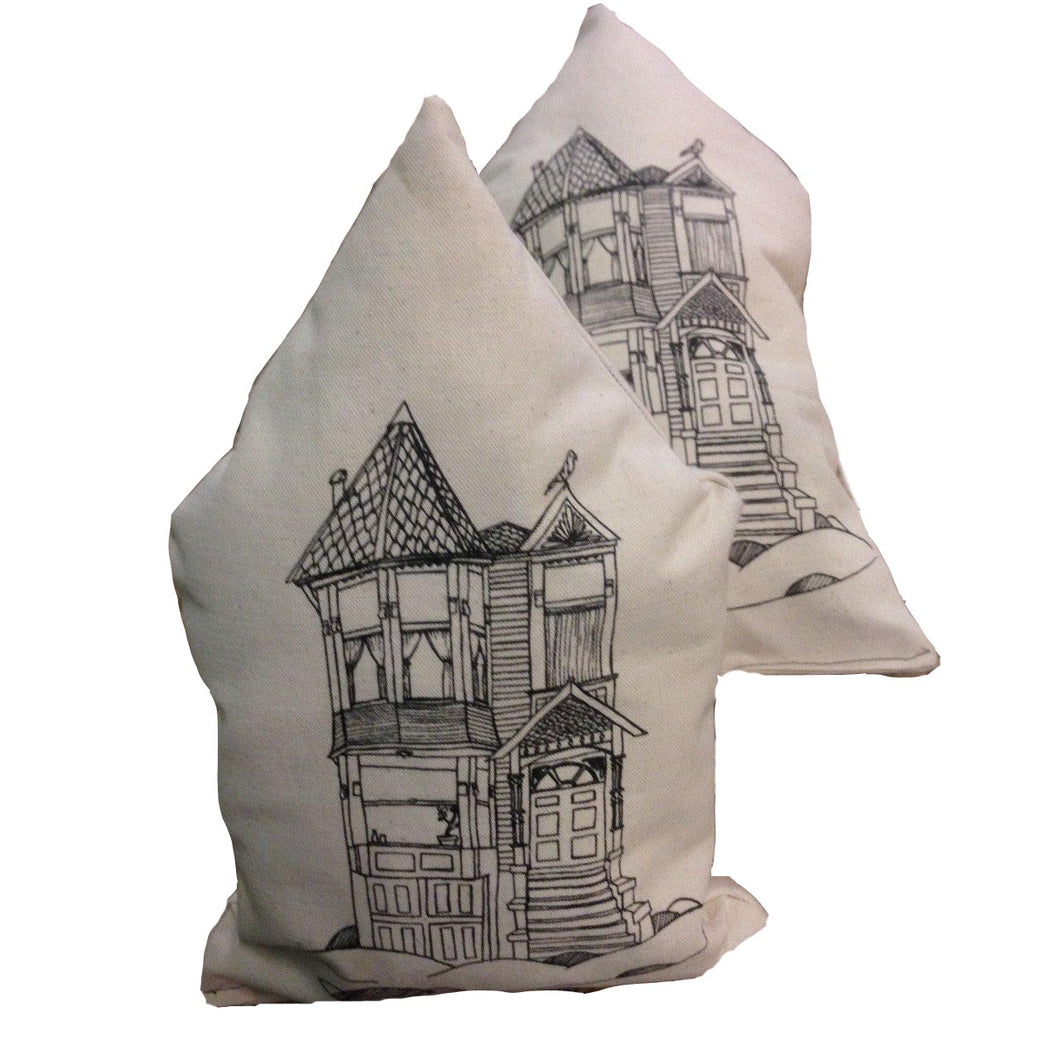 Natural Victorian House pillows