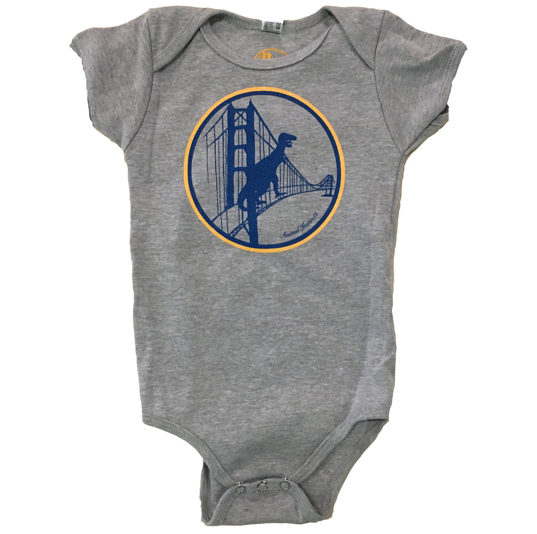 Infant Warriors Heather Grey Bodysuit Onesie