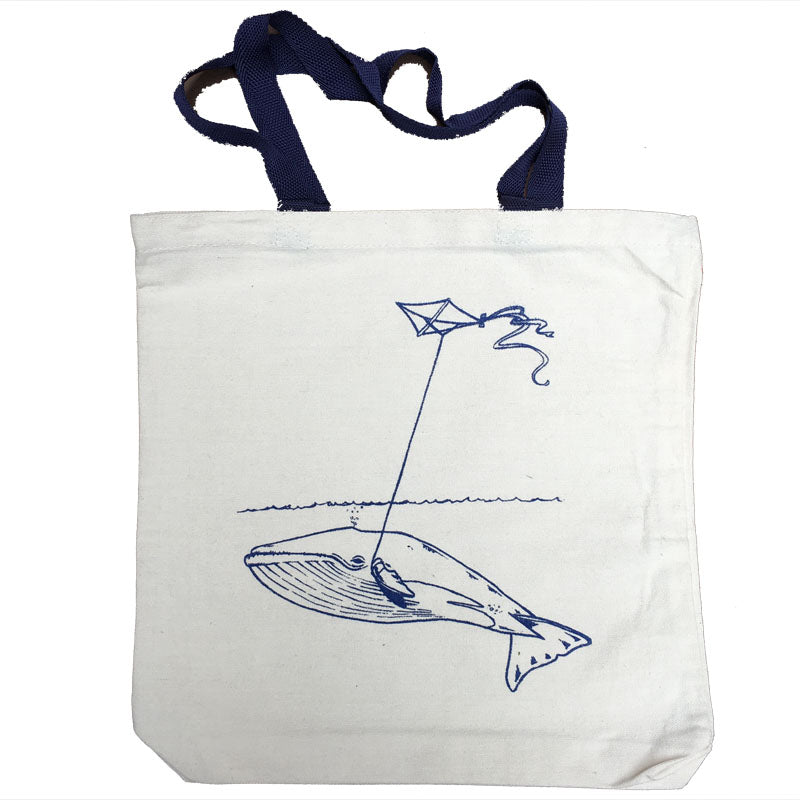Canvas Whale With Kite Tote