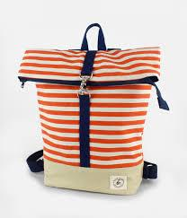Orange & White Stripe Backpack