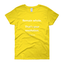 Remain whole (white print)